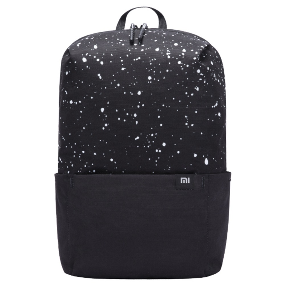 Xiaomi 10L Backpack Starry Sky Portable Zipper Large Capacity Level 4 Waterproof EPE Cotton Shoulder Strap - Black