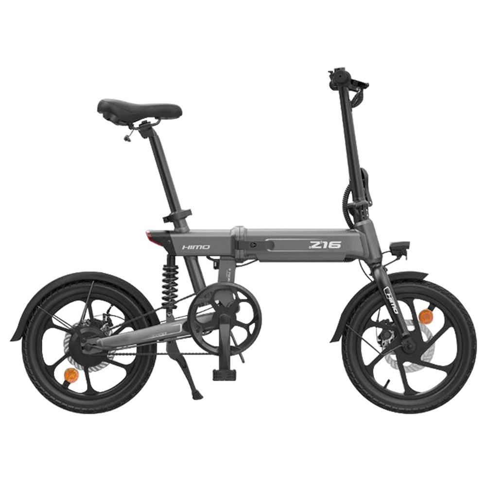 HIMO Z16 Folding Electric Bicycle 250W Motor Up To 80km Range Max Speed 25km/h Removable Battery IPX7 Waterproof Smart Display Dual Disc Brake Global Version - Gray