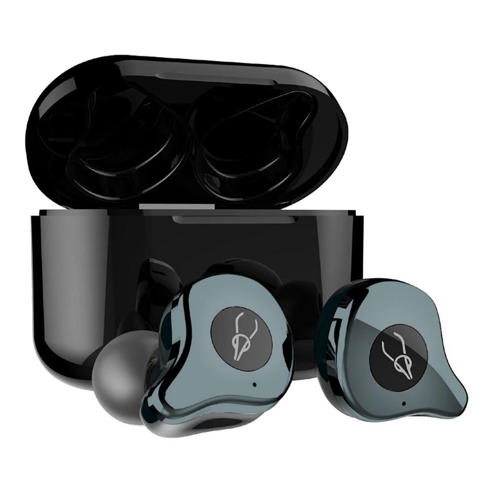 Sabbat E12 Ultra Qualcomm QCC3020 CVC8.0 TWS Earbuds QI vezeték nélküli töltés Független használat aptX / AAC / SBC Siri Google Assistant IPX5 - Gunmetal