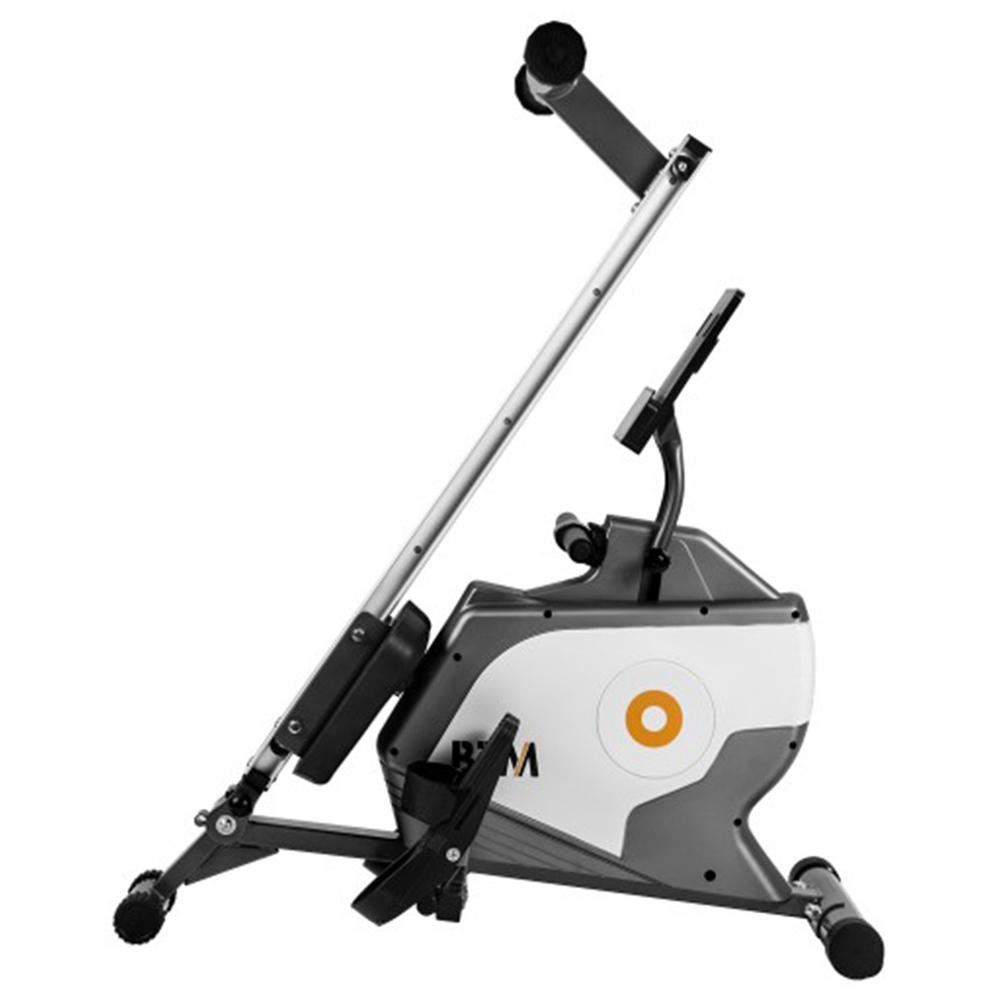 Πτυσσόμενο μηχάνημα κωπηλασίας LCD Οθόνη Tablet Ράφι 8 Επίπεδα Αντίσταση Ομαλή κίνηση ζώνης Μέγιστο φορτίο 120kg Cardio Workout Εσωτερική άσκηση Εκπαίδευση Fitness - Γκρι