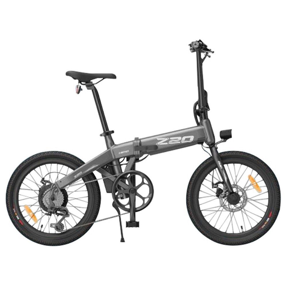 HIMO Z20 Vélo électrique pliant Pneu 20 pouces Moteur 250W DC Jusqu'à 80 km d'autonomie Batterie amovible Transmission Shimano 6 vitesses Affichage intelligent Double frein à disque Version Europe - Gris