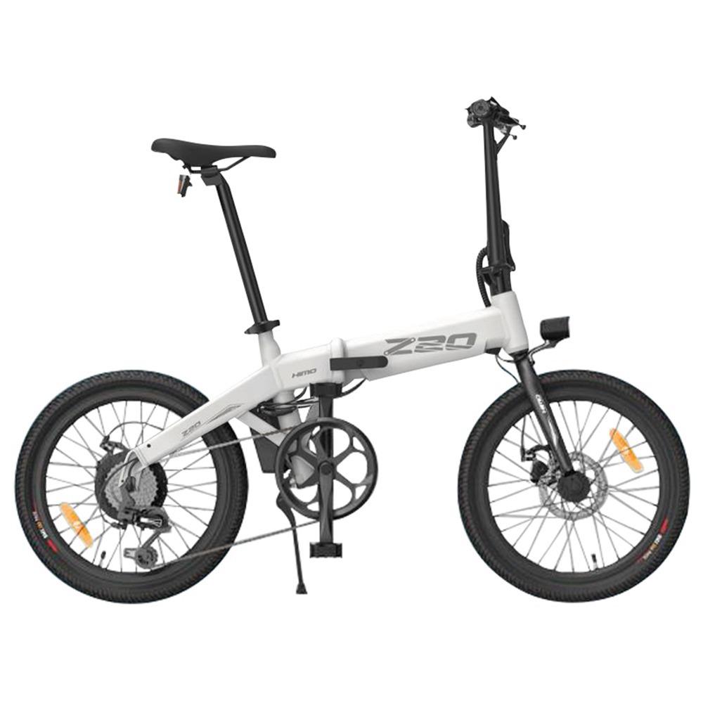 HIMOZ20折りたたみ式電動自転車20インチタイヤ250WDCモーター最大80kmレンジリムーバブルバッテリーShimano6速トランスミッションスマートディスプレイデュアルディスクブレーキEUバージョン-ホワイト