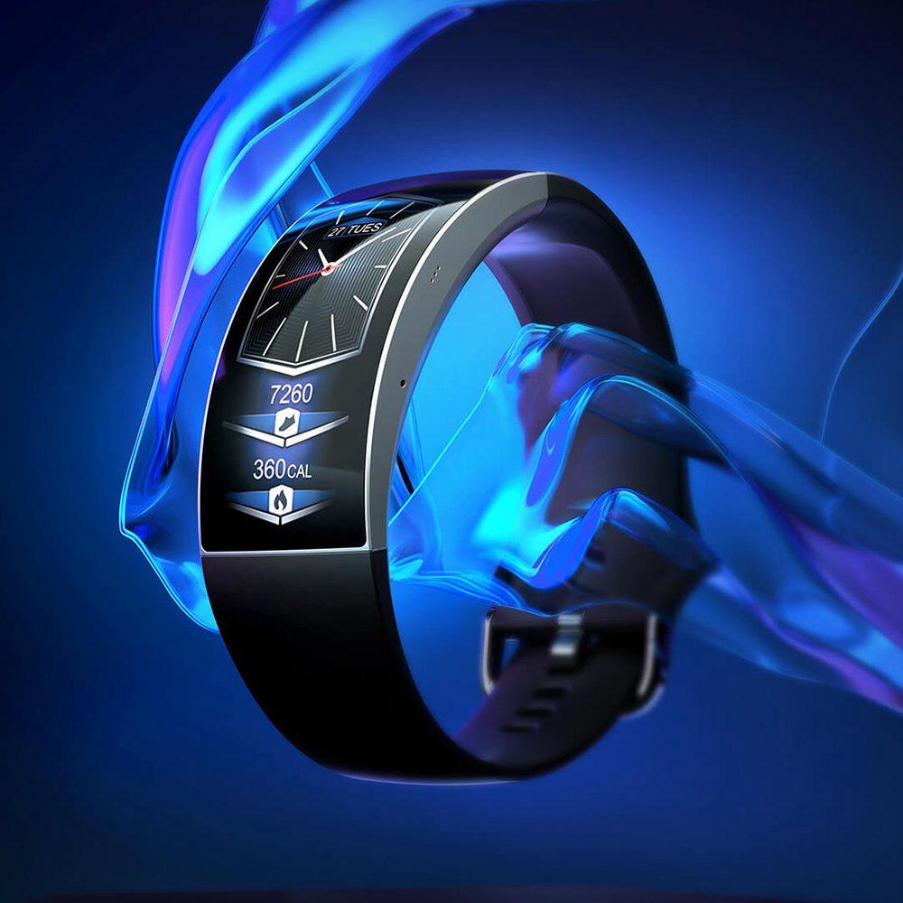 Display AMOLED Huami Amazfit X Smartwatch da 2.07 pollici con schermo curvo - Nero