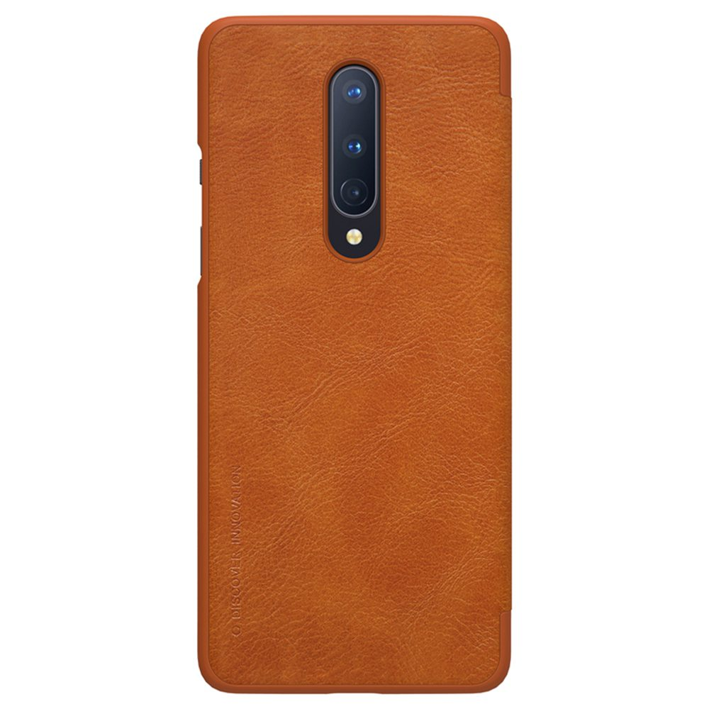 NILLKIN Protective Leather Phone Case For Oneplus 8 Smartphone - Brown