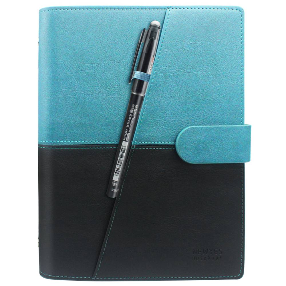 NEWYES A5 Riutilizzabile Smart Notebook Notebook in pelle PU cancellabile Wirebound Notebook Sketch Pad APP Storage - Verde Nero