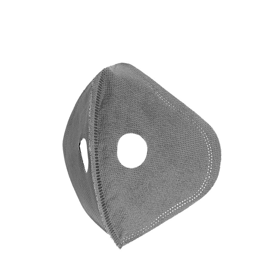 5PCS Cycling Mask 5-layer Filter Chip Replacement Activated Carbon Dustproof Anti-fog For Bicycle Outdoor - Grey