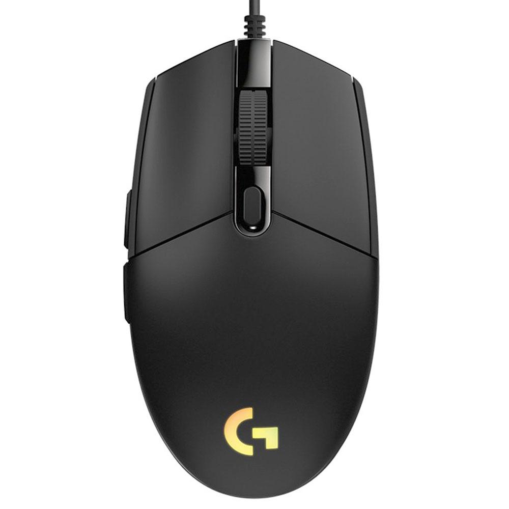 Logitech G102 LIGHTSYNC RGB Kabelgebundene Gaming-Maus 6 Programmierbare Tasten Maximale Auflösung 8000DPI - Schwarz
