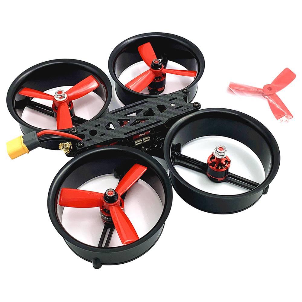 Hüllő Cloud-149 149mm 3Inch X típusú Division FPV Racing RC Drone MINI F4 20A 4IN1 ESC 5.8G 40CH 500mW VTX PNP - Fekete