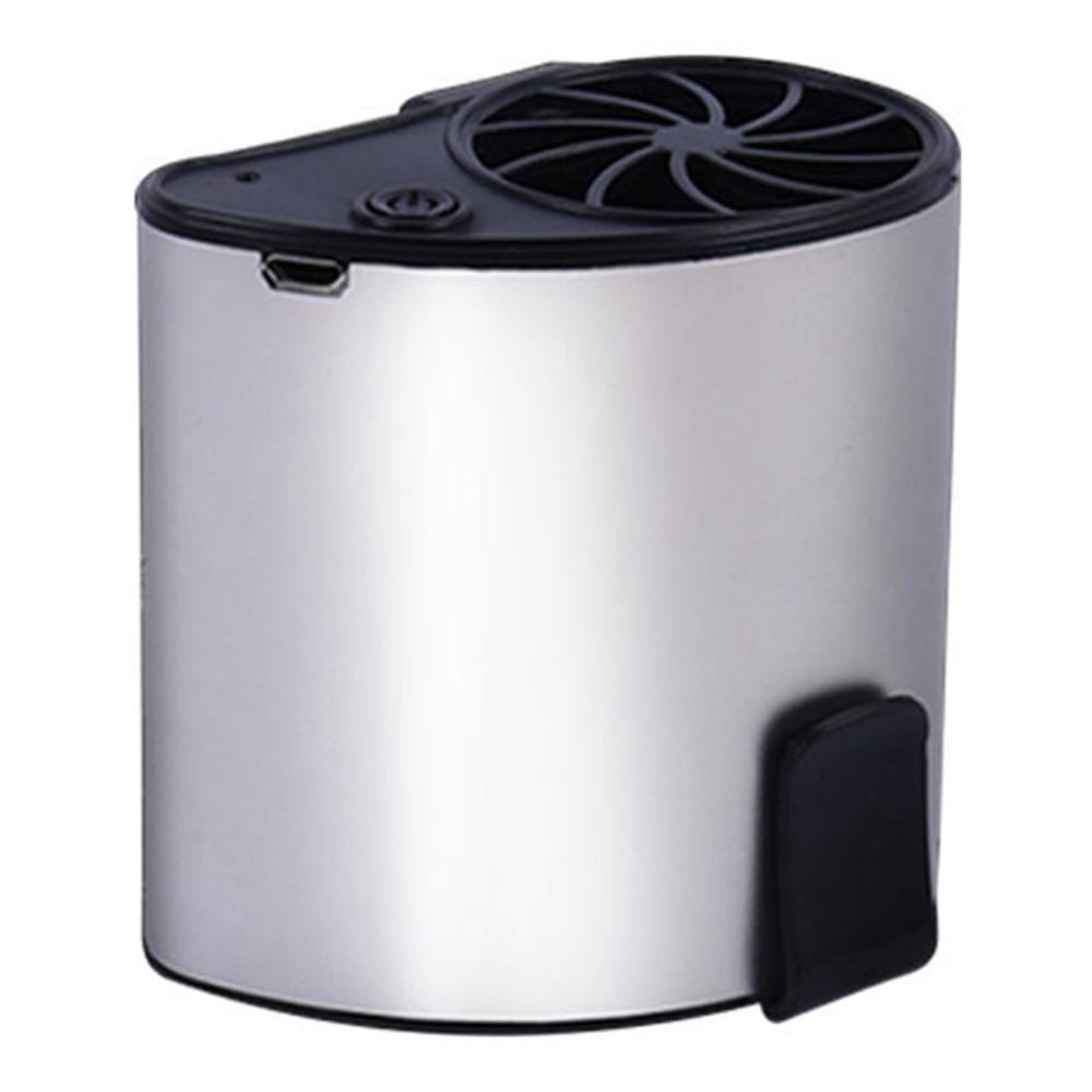ポータブルハンギングウエストファンUSB充電1200mAhバッテリーモバイル冷却夏-シルバー