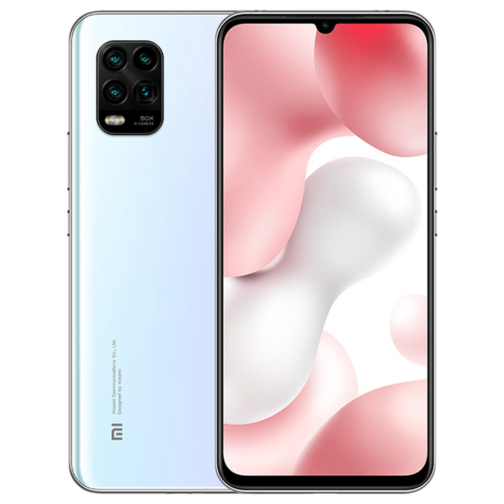 Xiaomi Mi 10 Lite CN إصدار 6.57 بوصة 5G هاتف ذكي Qualcomm Snapdragon 765G 6GB 128GB Quad Rear Camera 4160mAh Battery battery Android 10.0 Dual SIM Dual Standby - White
