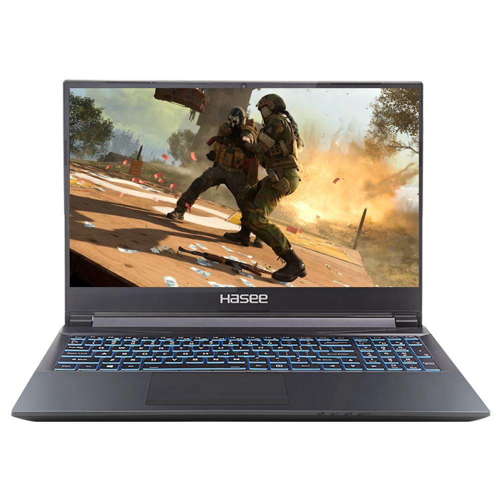 Hasee G7T-CU5NA Gaming Laptop Intel Core i5-10300H 17.3 Inch 144Hz 1920 x 1080 FHD Screen NVIDIA GeForce® GTX 1650 Ti Windows 10 8GB DDR4 512GB SSD RGB Backlit Keyboard English Version - Black