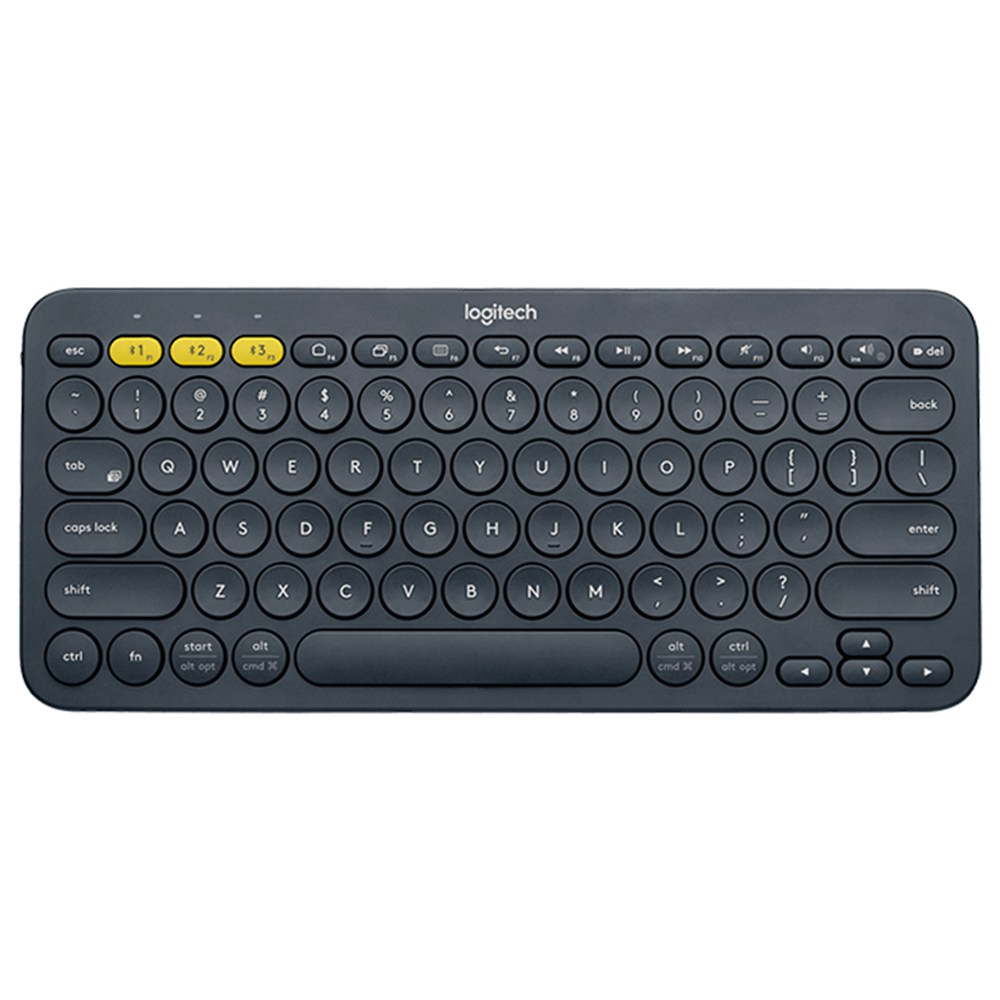 Clavier Bluetooth multi-appareils Logitech K380 pour Windows, Mac, Chrome OS, Android, iPad, iPhone, Apple TV Compatible avec Flow Cross Computer Control et Easy-switch jusqu'à 3 appareils - Gris