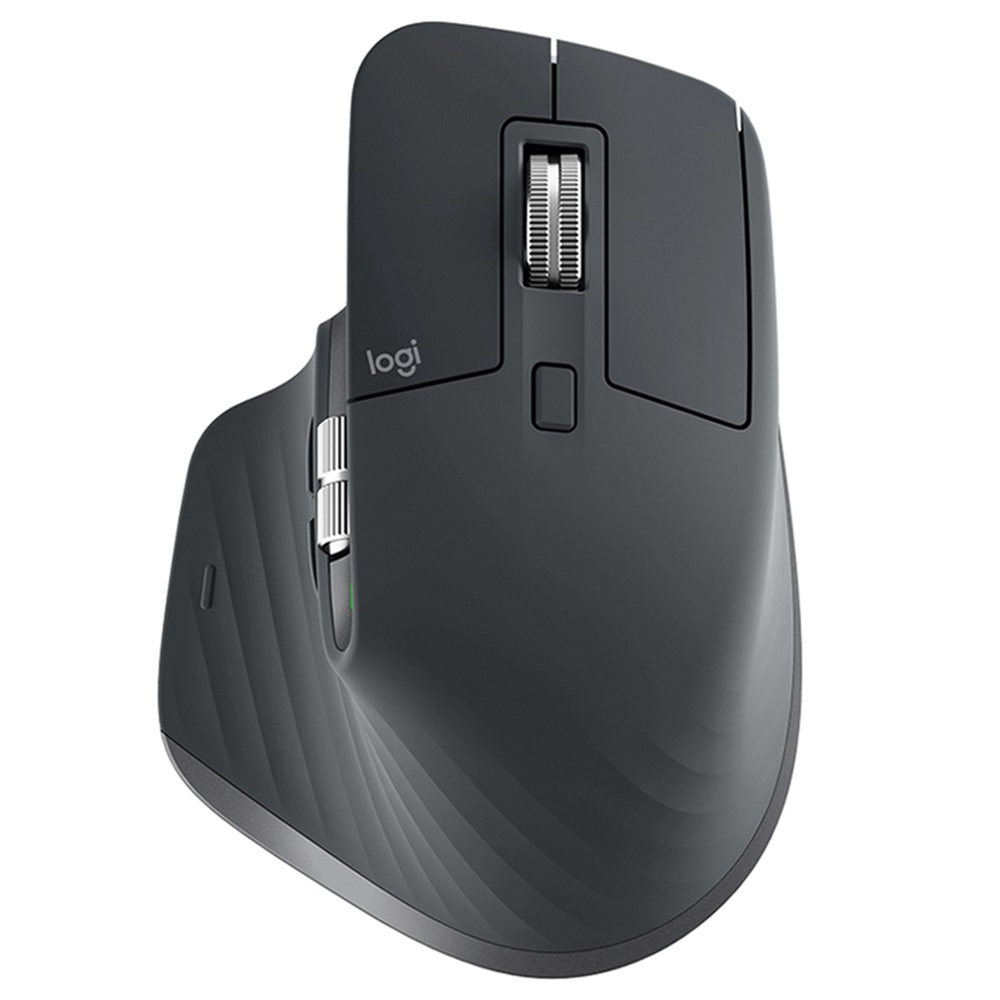Logitech MX Master 3 Advanced Bluetooth 2.4GHz Wireless Mouse Dual-mode 4000DPI 7 Button USB Quick Charging Transfer Text - Μαύρο