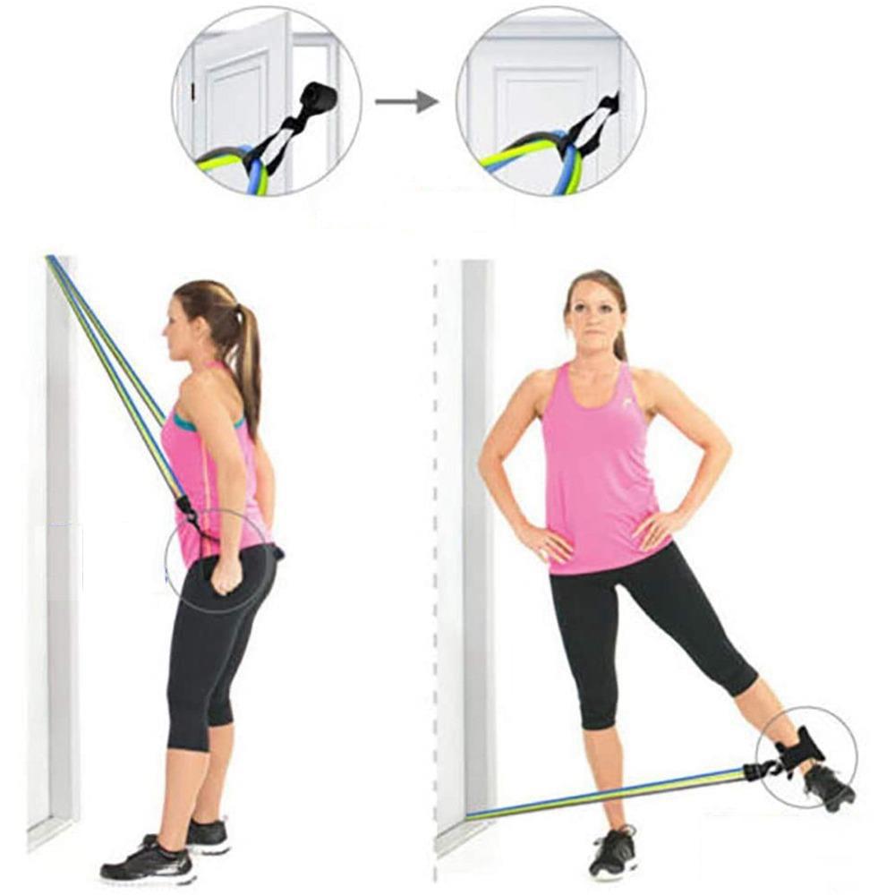 Φορητό σετ γυμναστικής Pull Rope Σετ γυμναστικής ελαστικής ζώνης εγχώριας γυμναστικής
