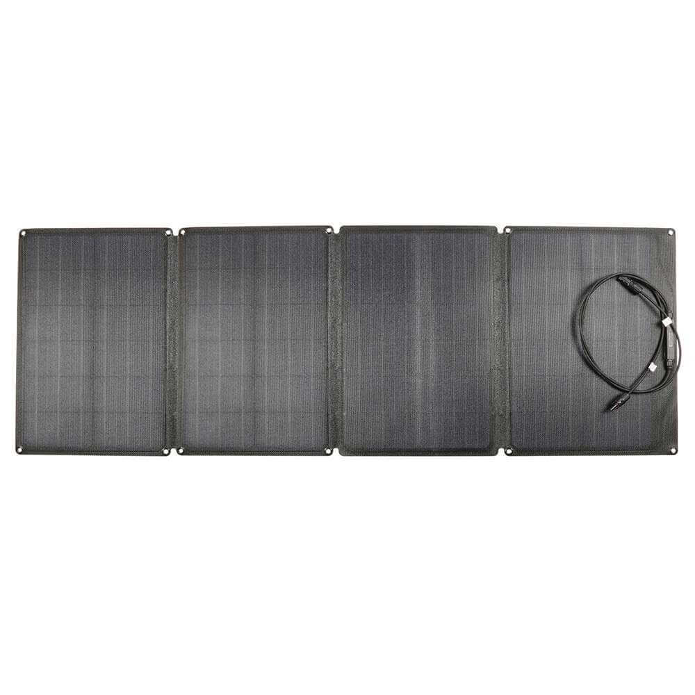 ECOSOLAR 110W Portable Folding Solar Charging Panel Waterproof IP67 For Camping / Climbing / Hiking - Black