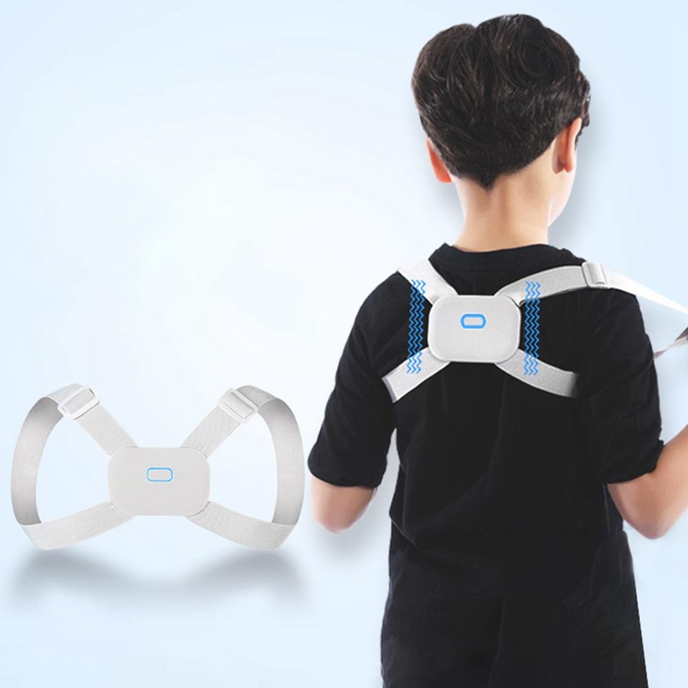 Tamanho M Inteligente Cifose Órtese Banda Ortodôntica Lembrete de Vibração Postura Correta Para Crianças Adultos - Branco