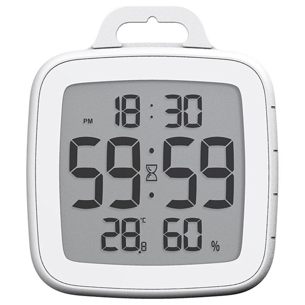 Baldr B008 Αδιάβροχη οθόνη αφής ψηφιακού χρονοδιακόπτη Έξυπνη οθόνη θερμοκρασίας χωρίς διάτρηση ρολόι συναγερμού για μαγείρεμα ντους - λευκό