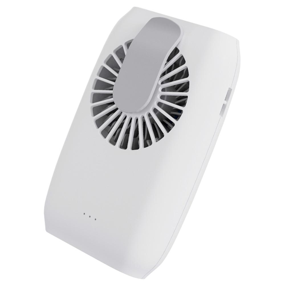 ポータブルハンドヘルドファンサイレントブラシレスモーター2000風速XNUMXmAhバッテリーUSBストラップ付き充電-白