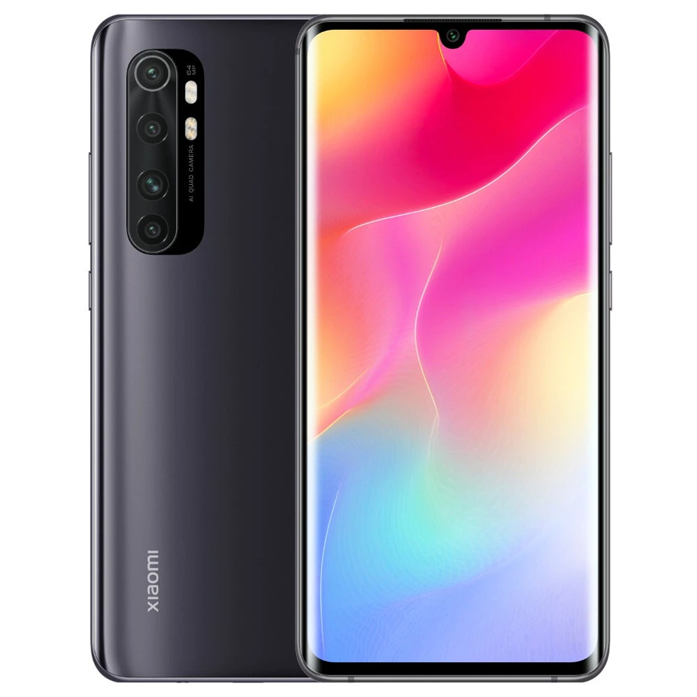 Xiaomi Mi Note 10 Lite Global Version 6.47'' 3D Curved AMOLED Screen 4G LTE Smartphone Qualcomm Snapdragon 730 8GB RAM 128GB ROM Android 10.0 Quad Rear Camera 5260mAh Battery NFC - Black