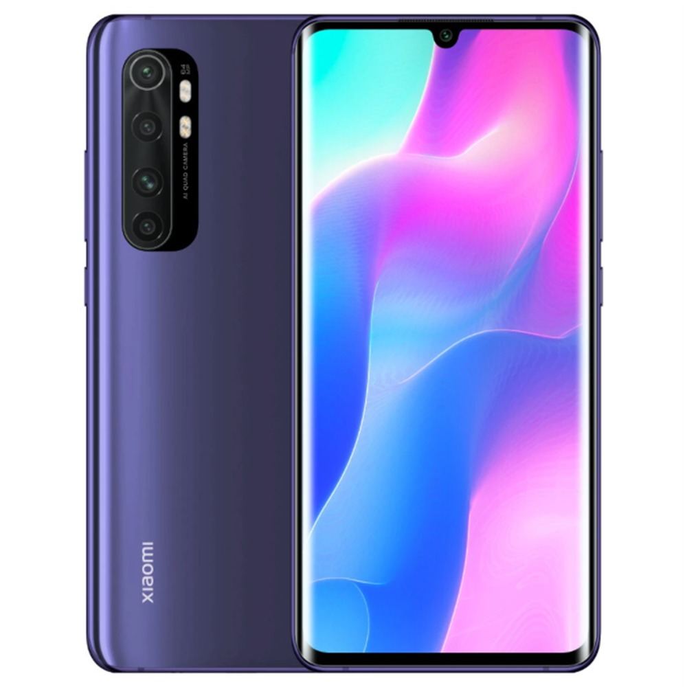 Xiaomi Mi Note 10 Lite Global Version 6.47'' 3D Curved AMOLED Screen 4G LTE Smartphone Qualcomm Snapdragon 730 8GB RAM 128GB ROM Android 10.0 Quad Rear Camera 5260mAh Battery NFC - Purple