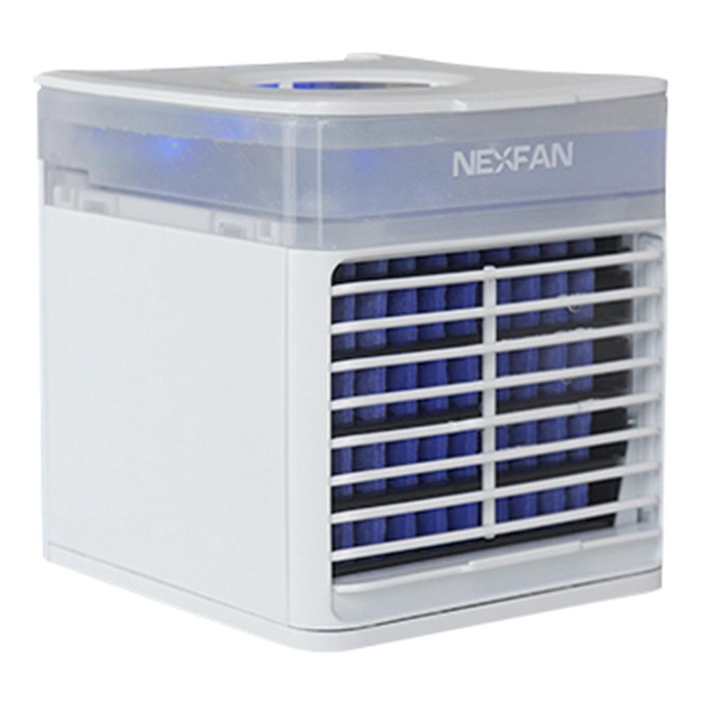 NexFanポータブルハンドヘルド多機能高速冷却エアコンファン浄化空気は臭気を排除XNUMXつのモードUSB充電UVバージョンオフィスオフィス-ホワイト