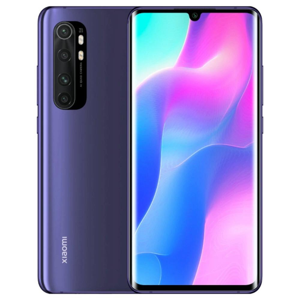Xiaomi Mi Note 10 Lite Global Version 6.47'' 3D Curved AMOLED Screen 4G LTE Smartphone Qualcomm Snapdragon 730 6GB RAM 64GB ROM Android 10.0 Quad Rear Camera 5260mAh Battery NFC - Purple
