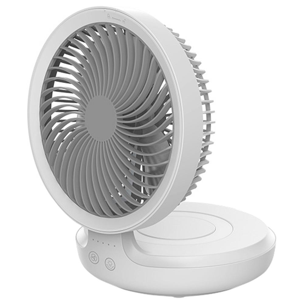 Edon Portable Wireless Folding Multi-function Suspension Fan White