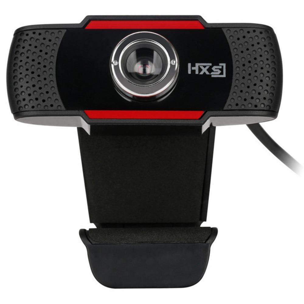 HXSJ S20 480P HD Webcam 12 Million Pixels Manually Focus Built-in Microphone Adjustable Angle For Desktop Computer Laptop - Black