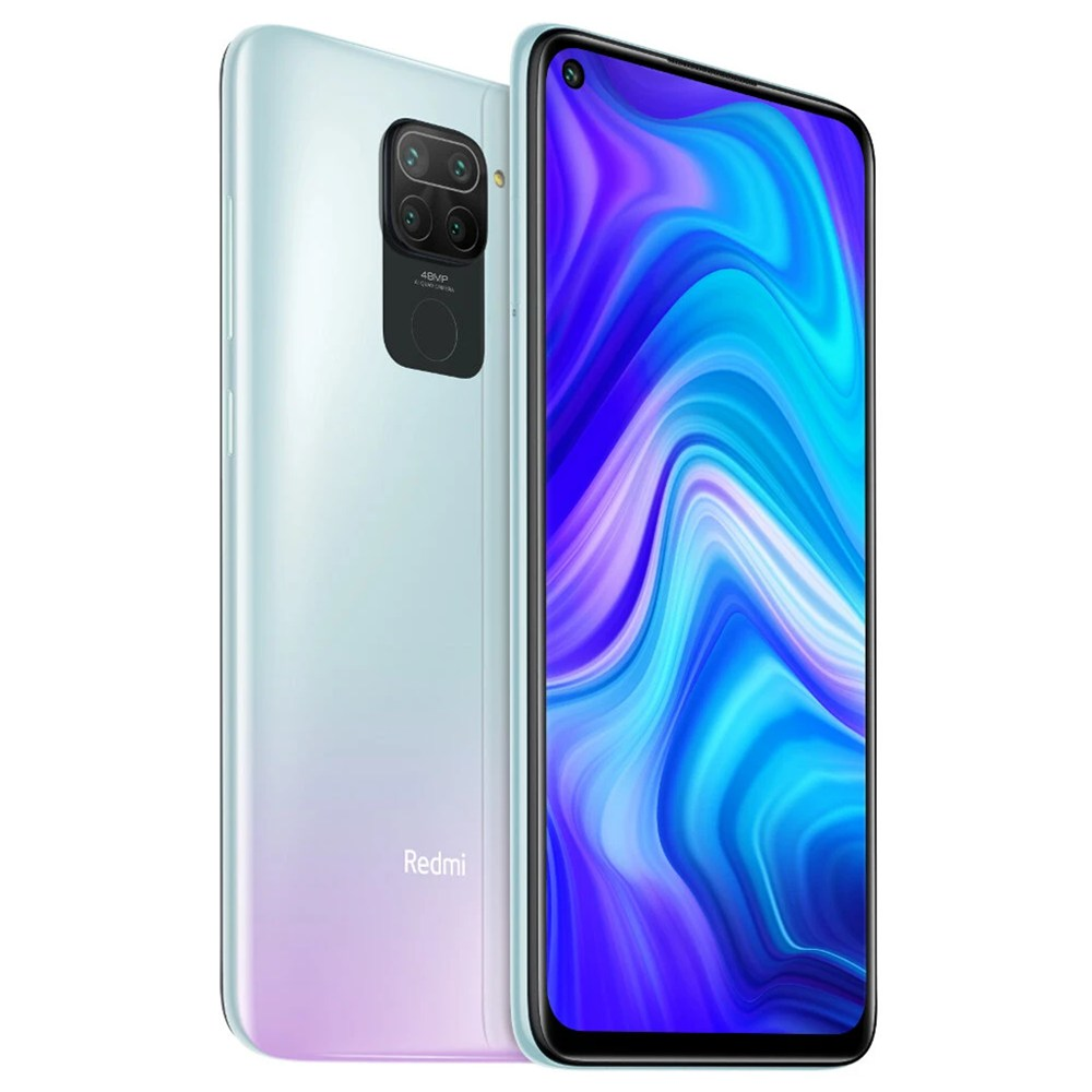 "Xiaomi Redmi Note 9 Global Version 6.53"" DotDisplay 4G LTE Smartphone MTK Helio G85 3GB RAM 64GB ROM Android 10.0 Quad Rear Camera 5020mAh Battery NFC 18W Fast Charging  Dual SIM Dual Standby - Polar White"
