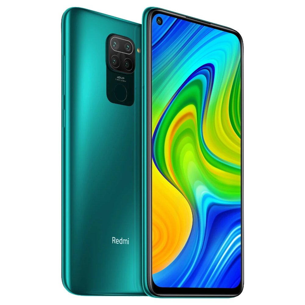 "Xiaomi Redmi Note 9 Global Version 6.53"" DotDisplay 4G LTE Smartphone MTK Helio G85 4GB RAM 128GB ROM Android 10.0 Quad Rear Camera 5020mAh Battery NFC 18W Fast Charging  Dual SIM Dual Standby - Forest Green"