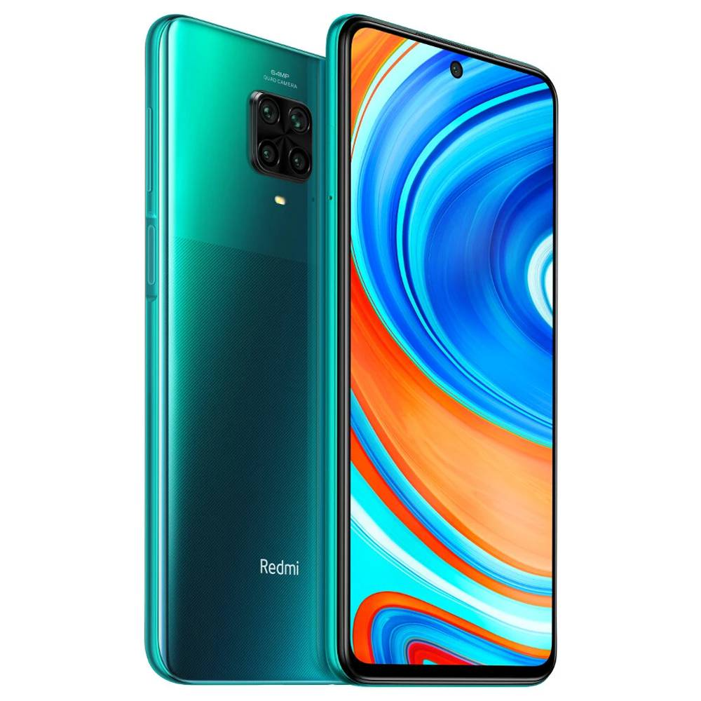 "Xiaomi Redmi Note 9 Pro Global Version 6.67"" DotDisplay 4G LTE Smartphone Qualcomm Snapdragon 720G 6GB RAM 64GB ROM Android 10.0 Quad Rear Camera 5020mAh Battery NFC 30W Fast Charging Dual SIM Dual Standby - Tropical Green"