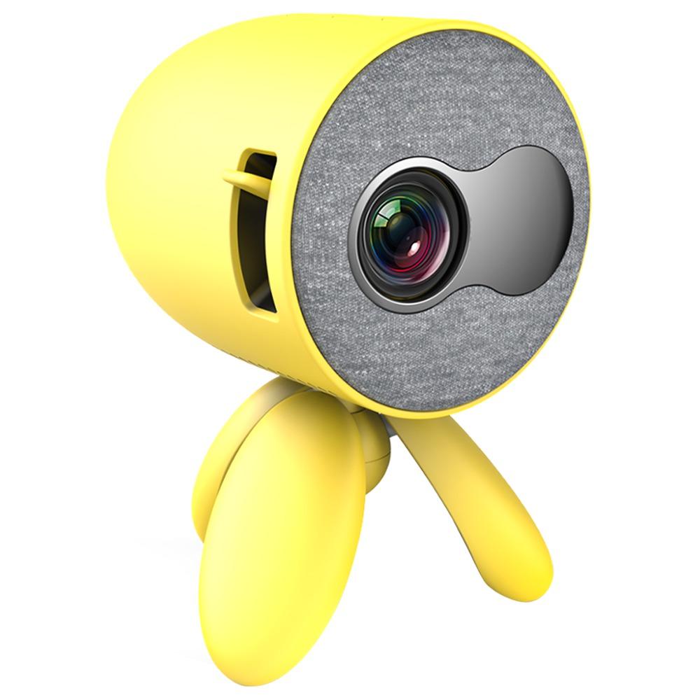 YG220 Mini Cep Projektörü 480 * 320P, 1080P HDMI AV SD USB'yi destekler Yangın TV Çubuğu / PS4 / USB / HDMI / SD / AV - Sarı