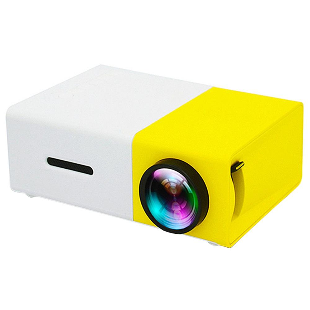YG300 Mini LED Projektör Native320x240P Destek 1080P 600LM - Sarı + Beyaz