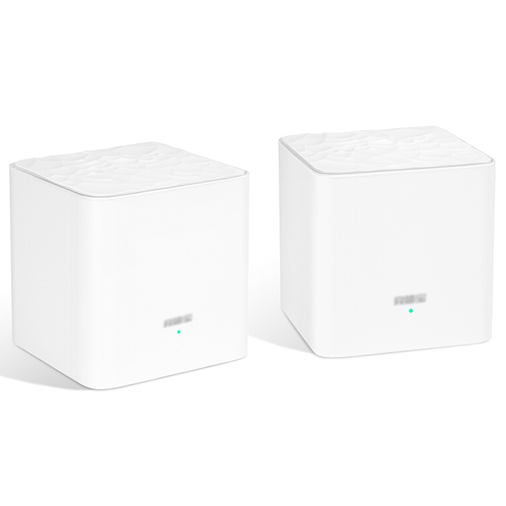 2 STÜCKE TENDA MW3 Mesh 2.4 GHz + 5 GHz WLAN-Router Durch die Wand Vollabdeckung Smart QoS AC 1200 Dual-Frequenz-Unterstützung MU-MIMO-Technologie APP-Steuerung - Weiß