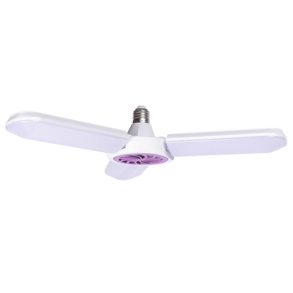Drei Klingen 45W Multifunktionale LED-Faltmückenlampe 6500K Weißlichtbeleuchtung Anti-Mücke - Weiß