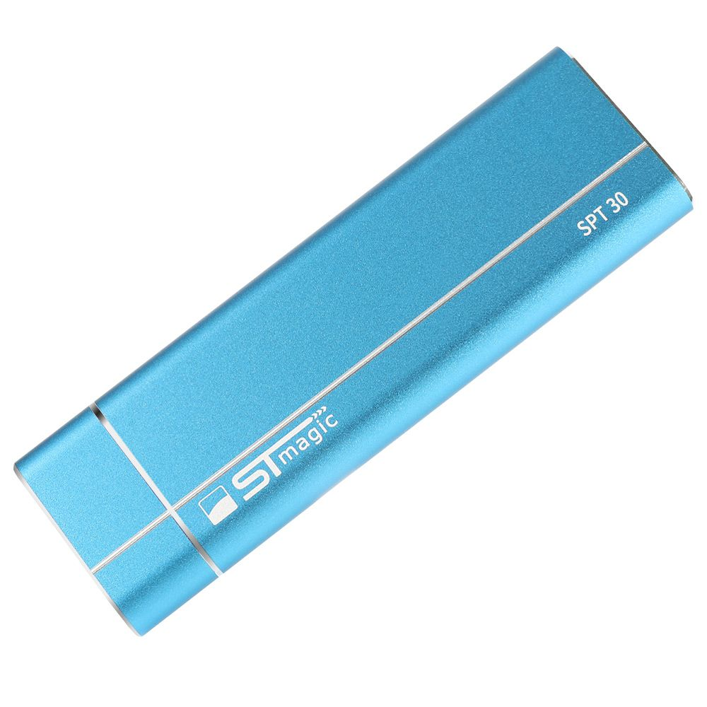 Stmagic SPT30 Type-C a USB 3.1 Contenitore SSD Capacità capacità 2T Supporto unità a stato solido M.2 NGFF - Blu