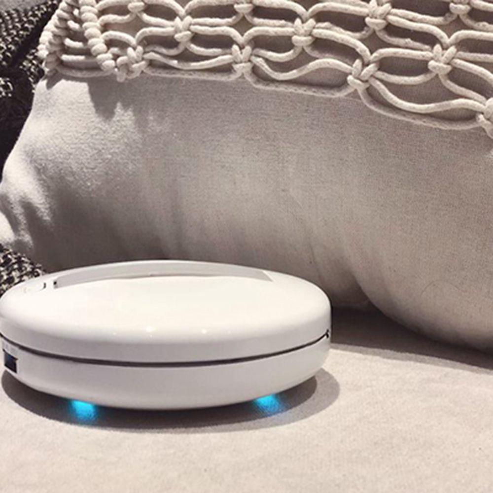 CleanseBot I primi acari della polvere dei batteri al mondo Uccidendo il robot sterilizzatore a luce UV Sterilizzatore Disinfettante Robot per la casa Letto Divano da viaggio (Tasso di sterilizzazione 99.99%) - Bianco