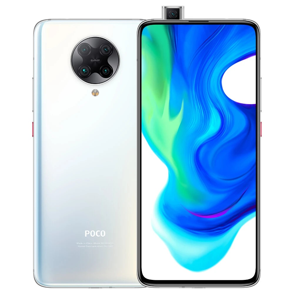 Xiaomi POCO F2 Pro 5G Smartphone Global Version 6.67 Inch AMOLED Full Screen Qualcomm Snapdragon 865 6GB RAM 128GB ROM Android 10.0 Quad Rear Camera 4700mAh Battery NFC-Phantom White