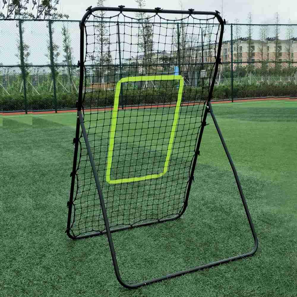 الهدف المرتفع للأنابيب الفولاذية المجلفنة المحمولة 140 × 90 × 80 سم لتدريب البيسبول لكرة القدم - أسود