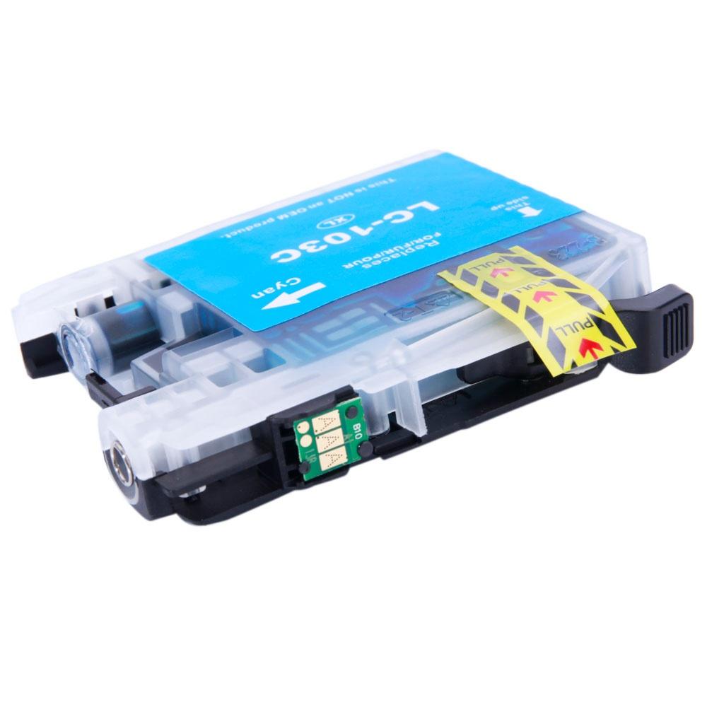 10PCSブラザーLC103XL 4BK / 2C / 2M / 2Yインクカートリッジ褪色防止ドキュメントイメージ印刷-ブラック