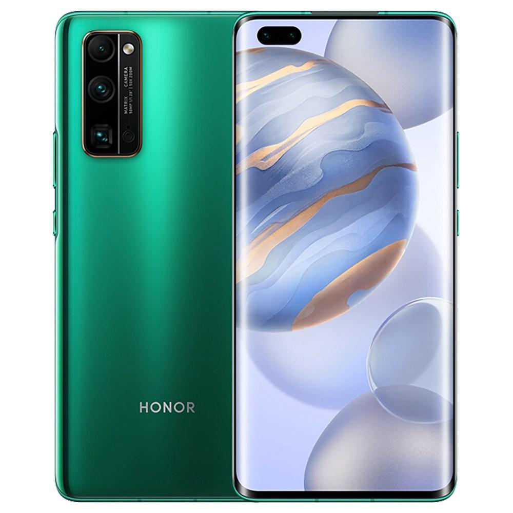 HUAWEI Honor 30 Pro + CN Version 5G Smartphone 6.57 Pouces 90Hz Écran OLED Kirin 990 8GB RAM 256GB ROM Android 10.0 Triple Caméra Arrière Double SIM Double Veille - Vert