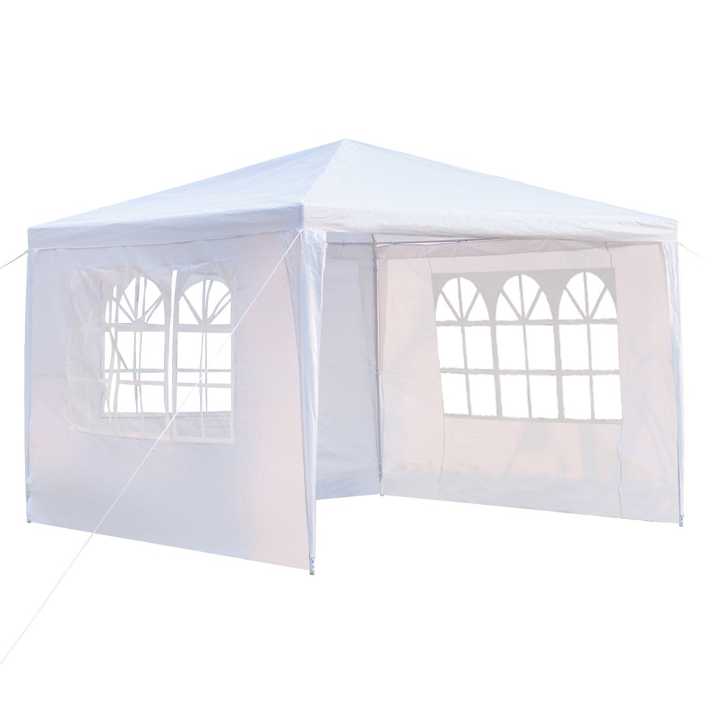 Portable 3 x 3m Three Sides Outdoor Waterproof Awning For Wedding / Camping / Parking / Party - White