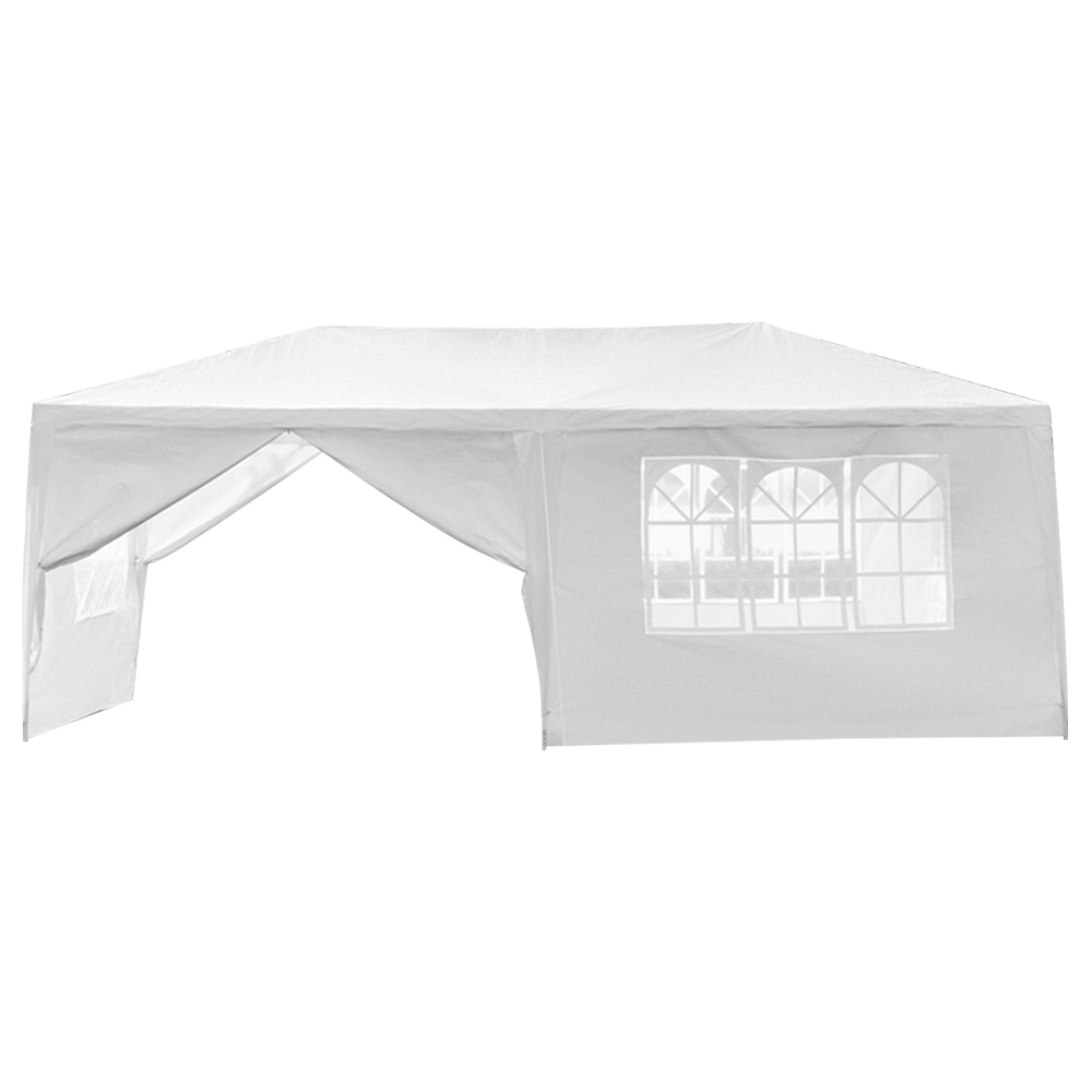 Portable 3 x 6m Six Sides Two Doors Outdoor Waterproof Awning For Wedding / Camping / Parking / Party - White