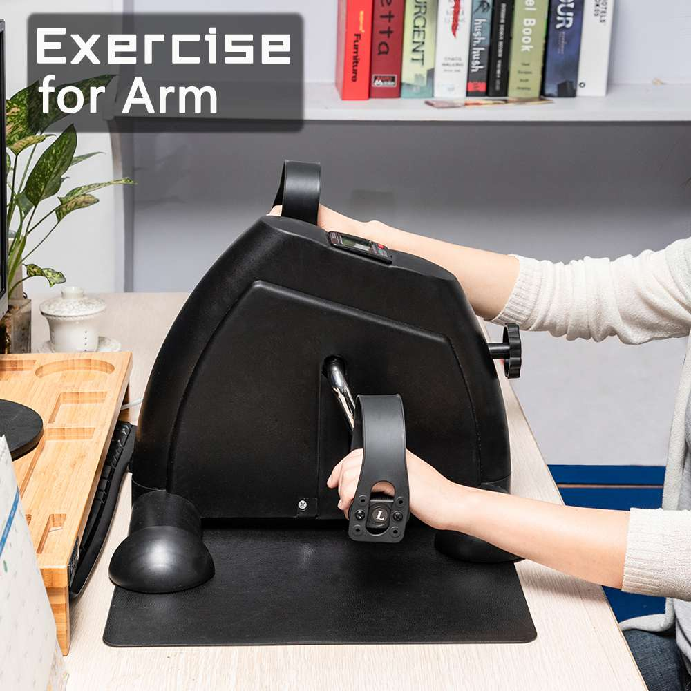 W002K Portable Mini Vélo D'exercice Hand And Foot Trainer Smart Display Home Exercise Fat Loss - Noir