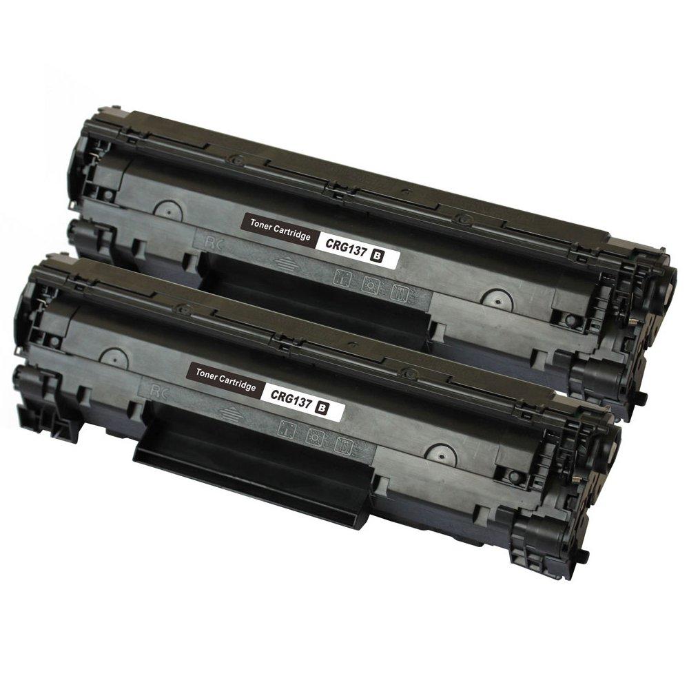 2PCSキヤノンCRG137 2BLトナーカートリッジ退色防止ドキュメント画像印刷-ブラック