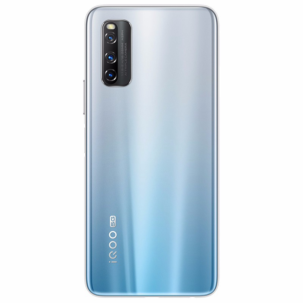 Vivo iQOO Z1 CN الإصدار 5G Gaming Smartphone 6.57 Inch 144Hz Screen MTK 1000 Plus Octa Core Android 10.0 6GB RAM 128GB ROM 4500mAh Battery 44W Dash Charging - Silver