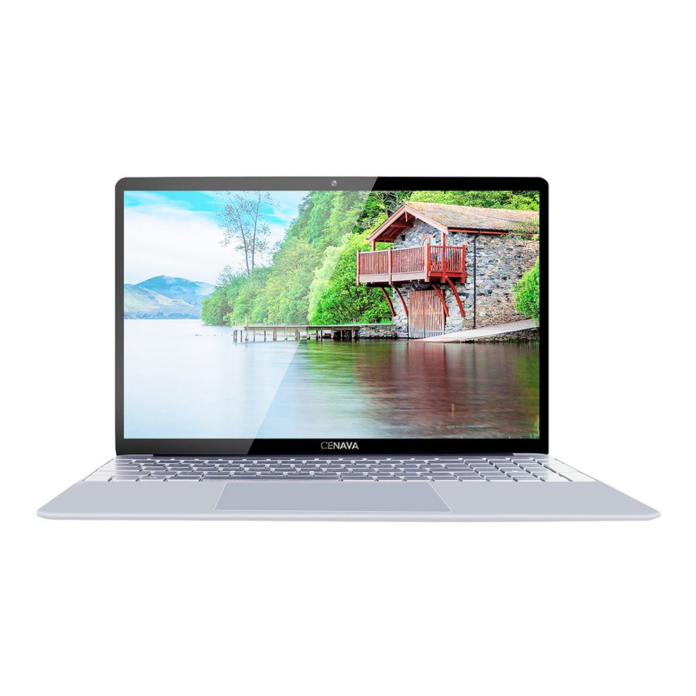 Cenava F151 Laptop Intel Celeron J3455 15.6 Zoll 1920 x 1080 Bildschirm Intel HD Graphics 500 Windows 10 8 GB DDR4 512 GB SSD Eingebaute Stereolautsprecher Englische Version - Silber