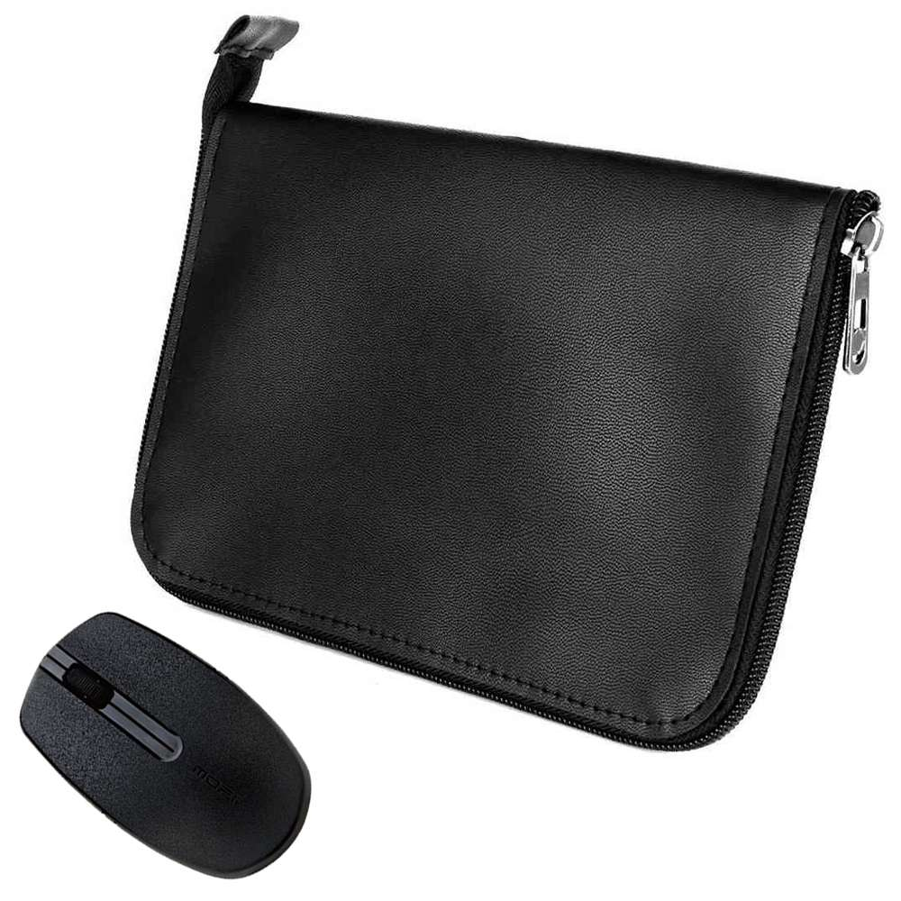 "PU Leather Protective Case for 8.4"" One Netbook One Mix 3 / 3S/3S+/3S Pro Yoga Pocket Laptop + Magic-ben Wireless Mouse"