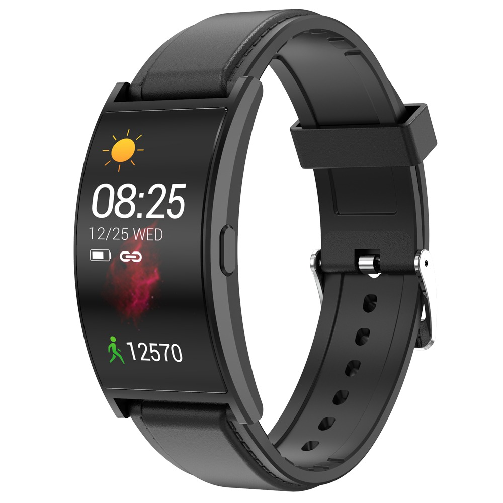 Makibes T20 Smartwatch Display AMOLED de 1.5 polegadas com tela curva - Preto