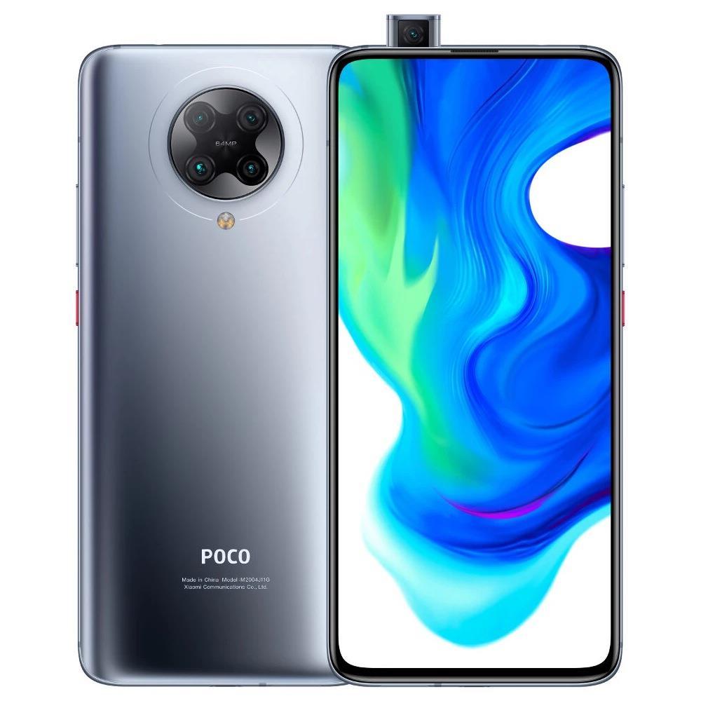 POCO F2 Proグローバルバージョン5Gスマートフォン6.67インチAMOLEDフルスクリーンQualcomm Snapdragon 865 Android 10.0 8GB RAM 256GB ROMクワッドリアカメラNFC 4700mAhバッテリー-サイバーグレー